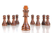 Pezzi degli scacchi isolati su bianco — Foto Stock