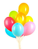 Colorful balloons isolated on white — Stock Photo