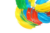 Abstract gouache paint, isolated on white — Stock Photo