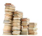 Livros antigos, isolados no branco — Fotografia Stock