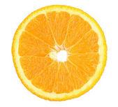 Oranges close up isolated on white — Stock Photo