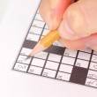 Crossword puzzle close-up — Stock Photo #11804054