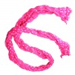 Bright pink female scarf isolated on white — Stock Photo #11845458