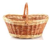 Empty basket isolated on white — Stock Photo
