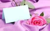 丁香布上美丽的玫瑰 — 图库照片