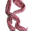 Bright pink female scarf isolated on white — Stock Photo