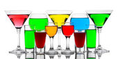 Alcoholic cocktails isolated on white — Stock Photo