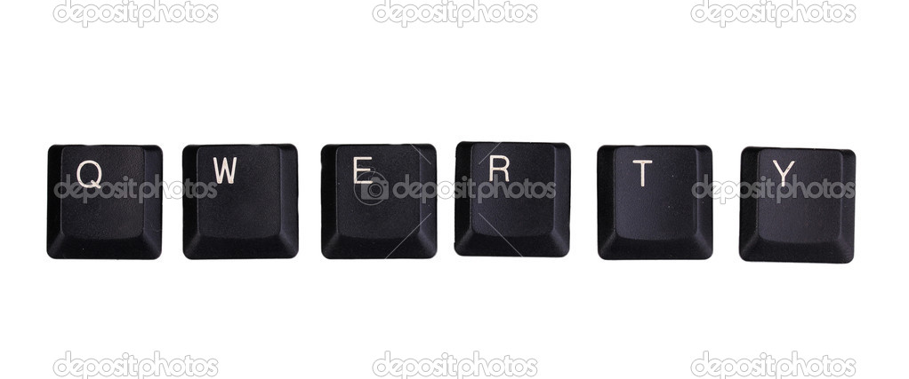 Keyboard keys saying qwerty isolated on white — Stock Photo #11869522