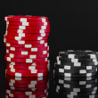 Casino chips isolated on black — Stock Photo #11908802