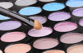 Bright eye shadows close-up — Stock Photo