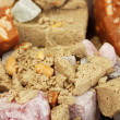 Stock Photo: Oriental sweets - sherbet, halvand turkish delight close-up