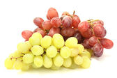 Ripe sweet grapes isolated on white — Stock Photo