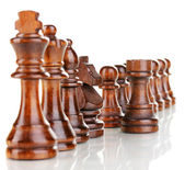 Chess pieces isolated on white — Stock Photo