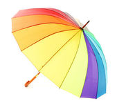 Colorful umbrella, isolated on white — Stock Photo