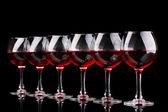 Wineglasses isolated on black — Stock Photo