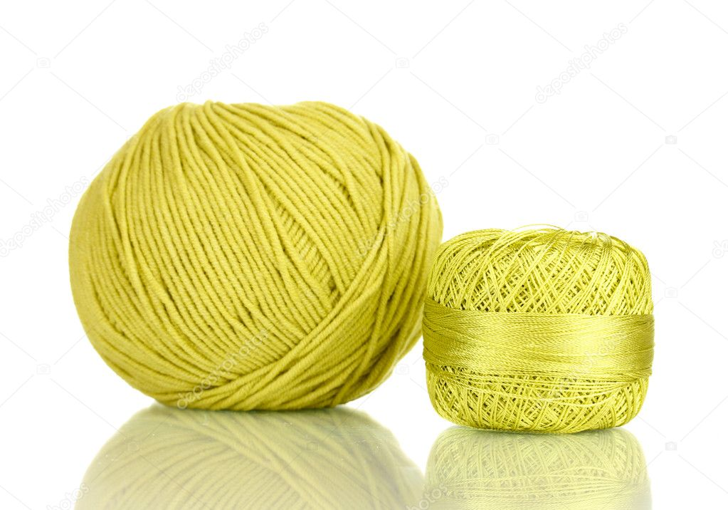 Knitting yarn isolated on white — Stock Photo #11941804