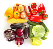 Bright colorful vegetables isolated on white background — Stock Photo