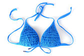 Women's bra swimsuit isolated on white close-up — Stock Photo