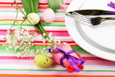 Easter table setting — Stock Photo