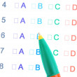 A, B, C, D test close-up — Stock Photo