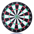 Stock Photo: Dart board isolated on white