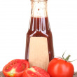 Tomato sauce in bottle isolated on white — Stock Photo #12066662