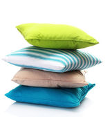 Bright pillows isolated on white — Stock Photo