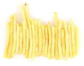 картофель фри изолированные на белом — Стоковое фото