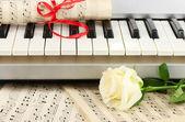 Background of piano keyboard — Stock Photo