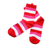 Striped socks isolated on white — Stock Photo