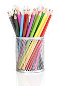 Lápices de colores de cristal aislado en blanco — Foto de Stock