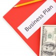 Red folder labeled business — Stock Photo #12100589