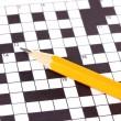 Crossword puzzle close-up — Stock Photo