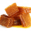 Sweet honeycombs with honey, isolated on white — Стоковая фотография