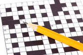 Crossword puzzle close-up — Stock fotografie
