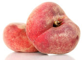Ripe fig peaches isolated on white — Stock Photo