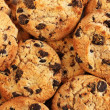 Chocolate chips cookies, close up — Stock Photo #12160671