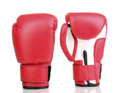 Red boxing gloves isolated on white — Stockfoto