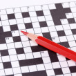 Stock Photo: Crossword puzzle close-up
