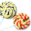 colorful lollipops isolated on white — Stock Photo