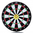 Постер, плакат: Darts with stickers depicting the life values isolated on white The darts hit the target