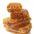 Sweet honeycombs with honey, isolated on white - Stockfoto