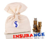 Concept insurance isolated on white — Stock Photo