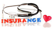 Concept of health insurance isolated on white — Stock Photo