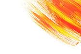 Gouache abstracto pintura y pinceles, aislados en blanco — Foto de Stock