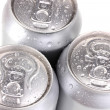 Aluminum cans isolated on white — Stock Photo