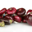 Purple vegetables isolated on white — Stock Photo #12317575