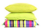 Almohadas color brillante aisladas en blanco — Foto de Stock