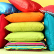 Colorful pillows closeup — 图库照片