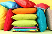 Colorful pillows closeup — Stock Photo